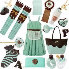 Bag Charm: Q-Pot   OTKs: Merry Go Round   Bangle: Q-Pot   Rosette/Brooch:  Kokokim   Necklace: Q-Pot   Dress: Emily Temple Cute   Ring: Angelic Pretty  ...