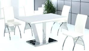 small white gloss dining table and chairs round modern black high set extending grey tables tablet