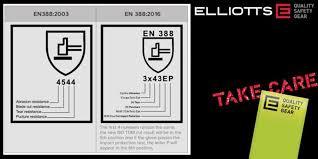 En388 Chart Safety Glove Standards En388 2003 Vs En388 2016 Elliotts