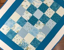 Blue and white quilt | Etsy & Baby quilt Blue and white Quilt blanket throw - Shades of blue/teal/white Adamdwight.com