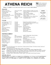 Sample Acting Resume Bio Resume Samples