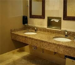 copper silk granite commercial vanity top pink india granite bath tops