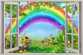 Small Picture Details About Fairy Garden 3D Window Decal WALL STICKER Home Decor
