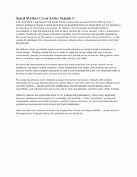 Letter Of Recommendation Template Social Worker New Cover Letter