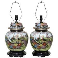 large pair ginger jar lamps japanese kutani mid century the old light warehouse ruby lane