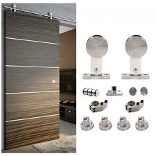 luxury track door hardware 4 winsoon 5 8ft sliding barn stainless single wood kit 1 curtains