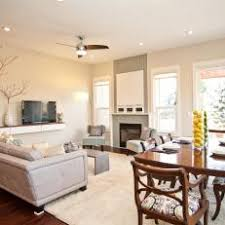 living room dining room combo. Fine Living Combination Living Room Dining With White And Neutral Decor In Combo O