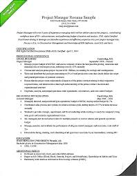 Project manager resume sample luxury photo  studiootb