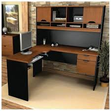 cherry l shaped desk corner l shaped office desk with hutch black and cherry nainn
