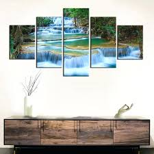 prints for office walls. Paintings For Office Walls Peaceful Waterfall Canvas Prints 5 Pieces Painting Wall Decor Poster Beautiful Landscape Waterfalls Art
