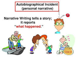 autobiographical incident essay powerpoint ppt narrative writing an autobiographical incident