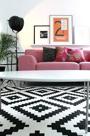 black and white ikea rug