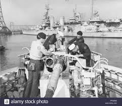 Working The Light Brazilian Sailors Working On A 40mm Gun Mount Aboard The