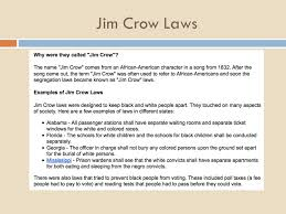 jim crow laws a look at segregation ppt video online  6 jim crow laws
