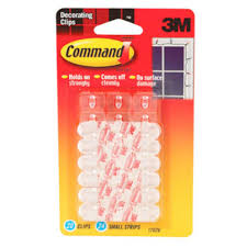 command mini hooks with water resistant strips package 6 each outdoor light clips clear 16