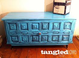 shabby chic turquoise trunk chest coffee table with