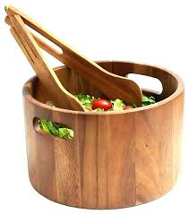 large wooden salad bowl. Extra Large Wood Salad Bowl Cia With Tongs Craftsman Serving And Wooden
