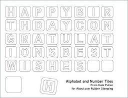 Letter For Banner Printable Letters Template Free Printable Alphabet Template Upper
