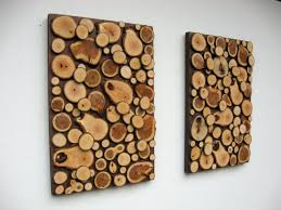 cute wooden wall decor from wood slices