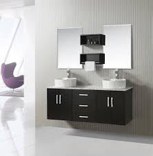 brie  inch floating double vessel sink vanity set