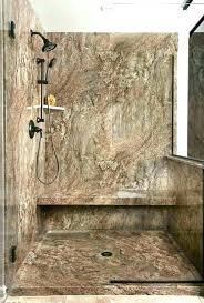 faux stone shower walls wall panels surround acrylic granite bathroom show stone shower panels faux