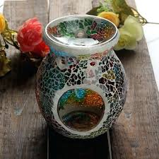 mosaic glass candle holder holders mirror