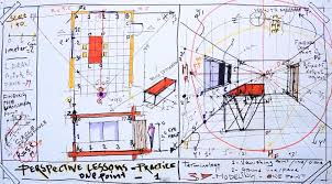 architecture design drawing techniques.  Drawing Fast Sketch How To Draw A OnePoint Perspective From The Existing Plan Architecture  Drawing Inside Design Techniques L