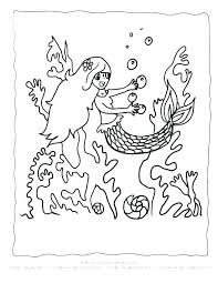 Cute Mermaid Coloring Pages Download Free Printable And Coloring