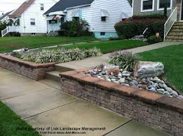 Front Garden Brick Wall Designs Unique Front Yard Landscape Designs With Before And After Pictures