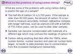 problems with carbon dating accuracy