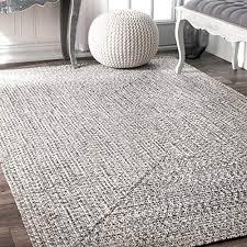 nuloom hjfv01c braided lefebvre outdoor rug 5 x 8 salt and pepper