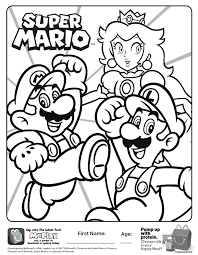 Mcdonalds Coloring Pages Printable 9 A Check Out This Super Mario