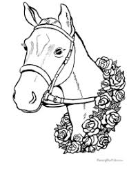 Free printable rearing horse coloring page for kids of all ages. Horse Coloring Pages