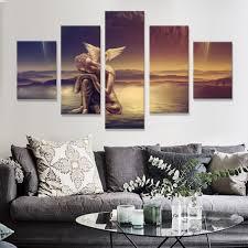 Kopen Goedkoop Abstract Canvas Schilderij Wall Art Poster 5 Panel