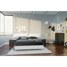 Full Size Platform Bed in White and Melamine - 345403
