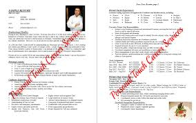resumes personal touch career services sample private chef or personal chef resume