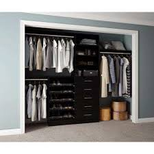 Wood closet shelving Custom Wood Assembled Hayneedle Black Wood Closet Systems Closet Systems The Home Depot