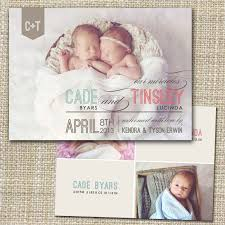 twin birth announcements photo cards twins birth announcement photo card photo birth announcement
