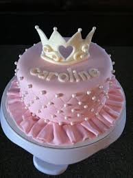 Pink Quilted Ruffly Princess Cake Cake Birthday Cake Baby