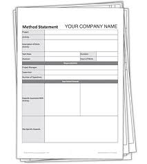 Method Of Statement Sample Statement Form In Doc Document Image Preview Blank Method Statement 32