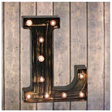 Lighted Letter L Pooqla Vintage Light Up Marquee Letters With Lights Illuminated Industrial Style Lighted Alphabet Letter Signs Coffee Bar Apartment Bedroom Wall