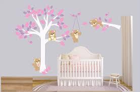 wall decals nursery teddy bears wall sticker tree with bears nursery children wall sticker wall decor