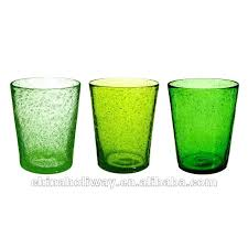 bubble glass tumblers set of 3 green bubble ball glasses set bubble bubble glass glassware