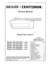 engrossing craftsman half horsepower garage door opener manual