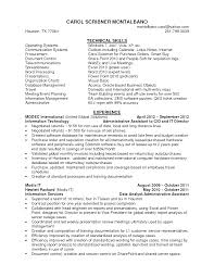 Administrative Assistant Resume Skills Examples Floating Cityorg