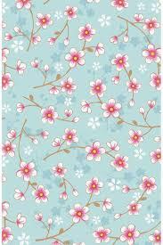 Cherry Blossom Behang Blauw