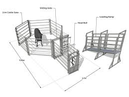 Cattle Yard Designs 10 Head 10 Head Cattle Yard With Head Bail And Loading Ramp