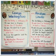 Presidency Chart Abraham Lincoln 16th Answers George Washington And Abraham Lincoln Anchor Charts