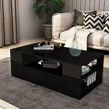 new 2 drawer coffee table storage shelf