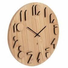 umbra shadow wall clock natural